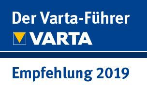 Ausgezeichnet und empfohlen von Varta